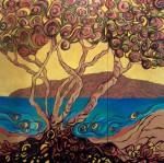 """Pohutukawa and Kapiti Island"""