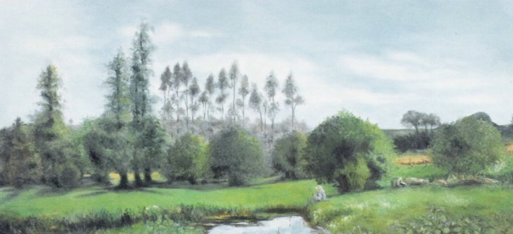 """After Monet - French Landscape"""
