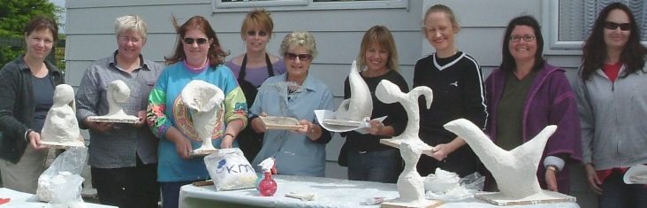Playing with Plaster Sculpture.