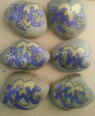 Painted Rocks - Corporate Paperweight Gifts - $10 per rock.