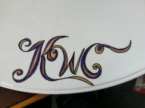 Hand-painted platter.