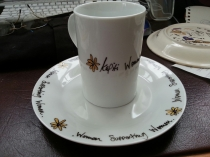 Handpainted Corporate Mug and Plate
