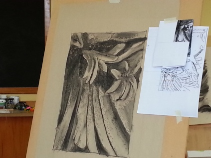 From realism to abstraction - charcoal study.