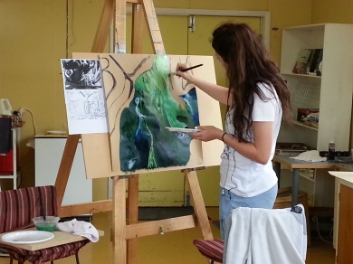 Building Creative Confidence - abstraction in acrylic...