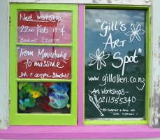 Gill's Art Spot - my colourful window!