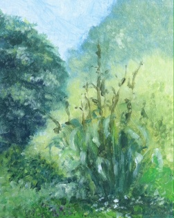 Landscape in oils.