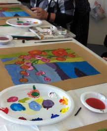 Introduction to painting - looking at warm and cool primary colours