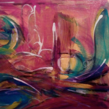 Abstract card - intuitive painting.