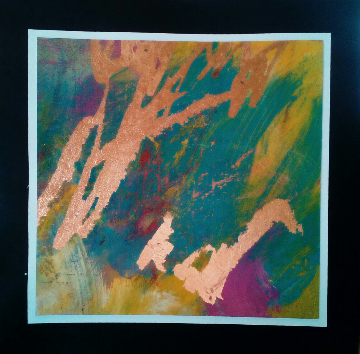 Abstract with Copper Leaf