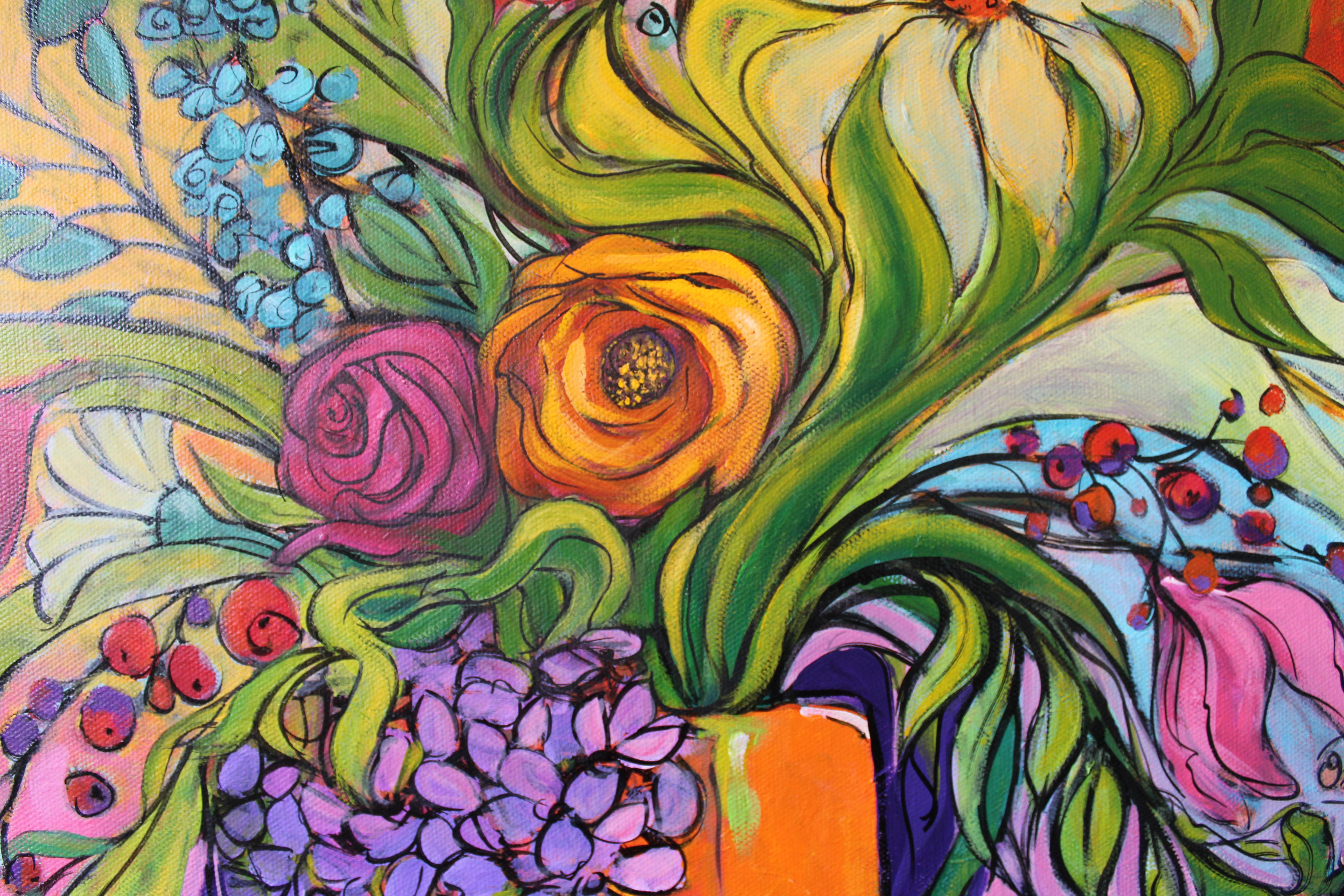 Gill Allen - acrylic on canvas -