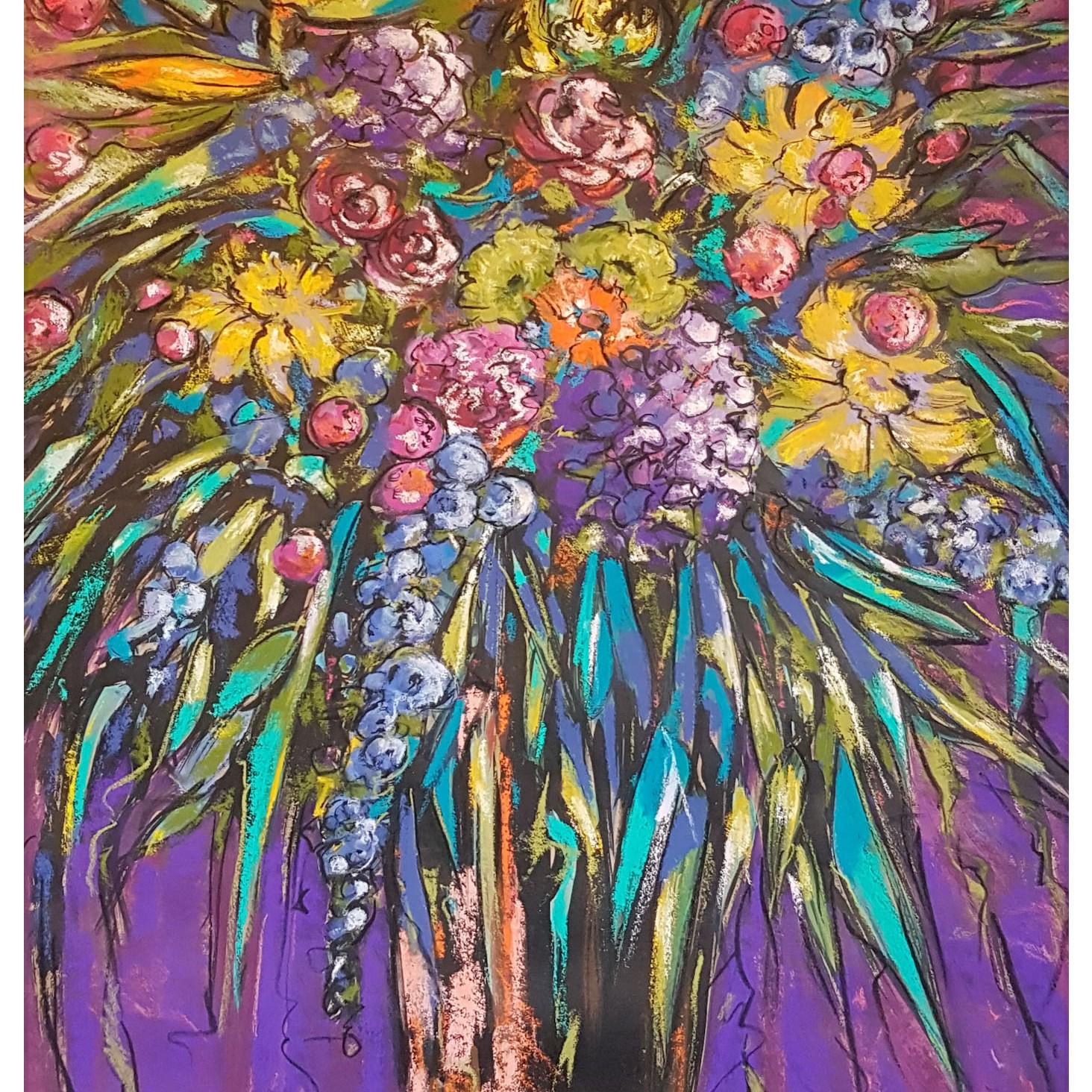 """""""Emily's Flowers"""" NZ Artist Gill Allen"""